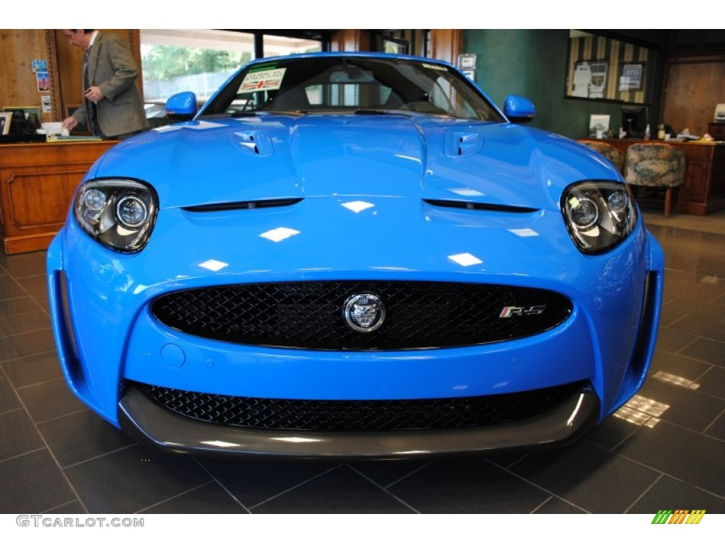 French Racing Blue 2012 Jaguar XK XKR-S Coupe Exterior ...