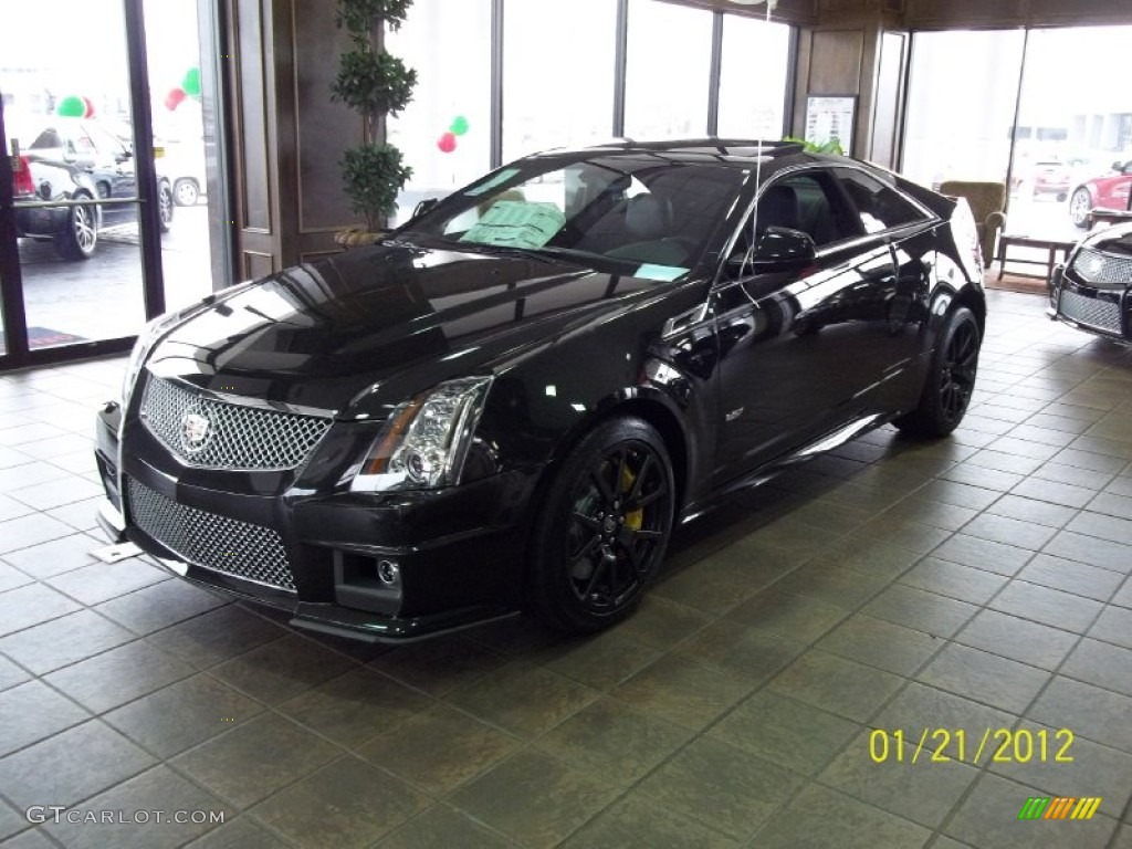 2012 Black Diamond Tricoat Cadillac Cts V Coupe 60045501