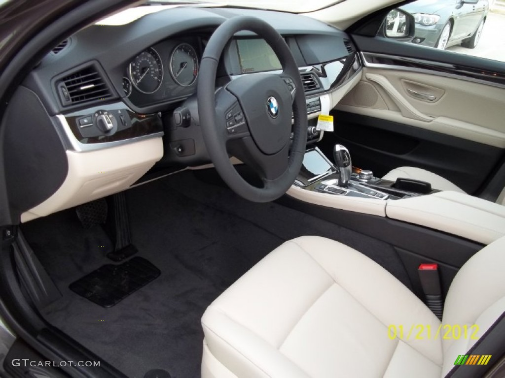 Oyster Black Interior 2012 Bmw 5 Series 550i Sedan Photo