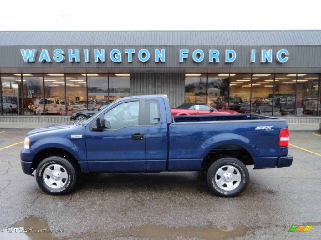 2007 dark blue pearl metallic ford f150 stx regular cab 4x4 60045452 car color. Black Bedroom Furniture Sets. Home Design Ideas