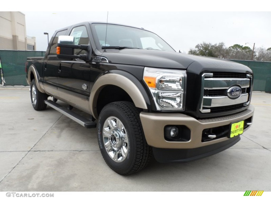 2012 tuxedo black metallic ford f250 super duty king ranch crew cab 4x4 60045345. Black Bedroom Furniture Sets. Home Design Ideas