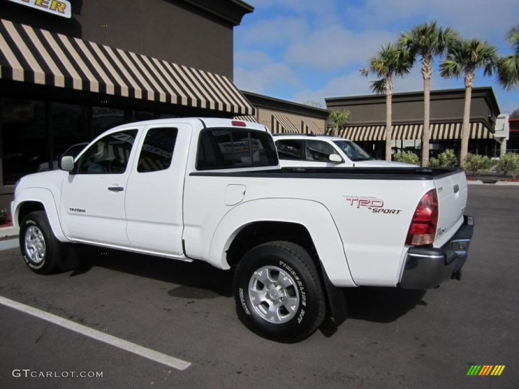 Super White 2006 Toyota Tacoma V6 PreRunner TRD Sport Access Cab ...