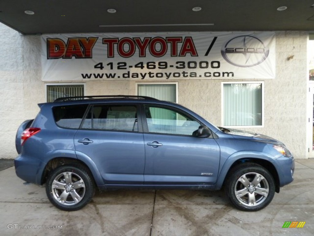 2012 pacific blue metallic toyota rav4 sport 4wd 60111250. Black Bedroom Furniture Sets. Home Design Ideas