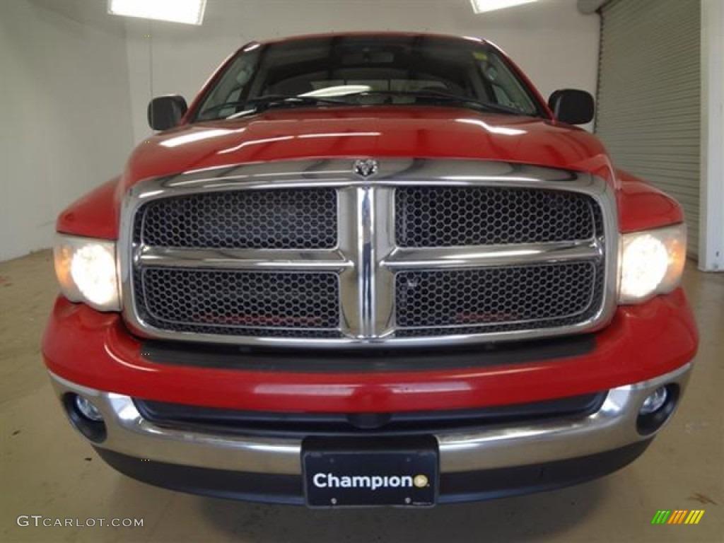 2002 Ram 1500 SLT Quad Cab - Flame Red / Dark Slate Gray photo #2