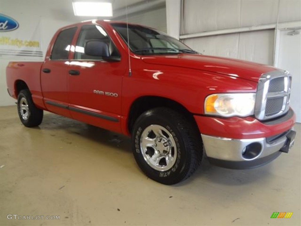 2002 Ram 1500 SLT Quad Cab - Flame Red / Dark Slate Gray photo #3