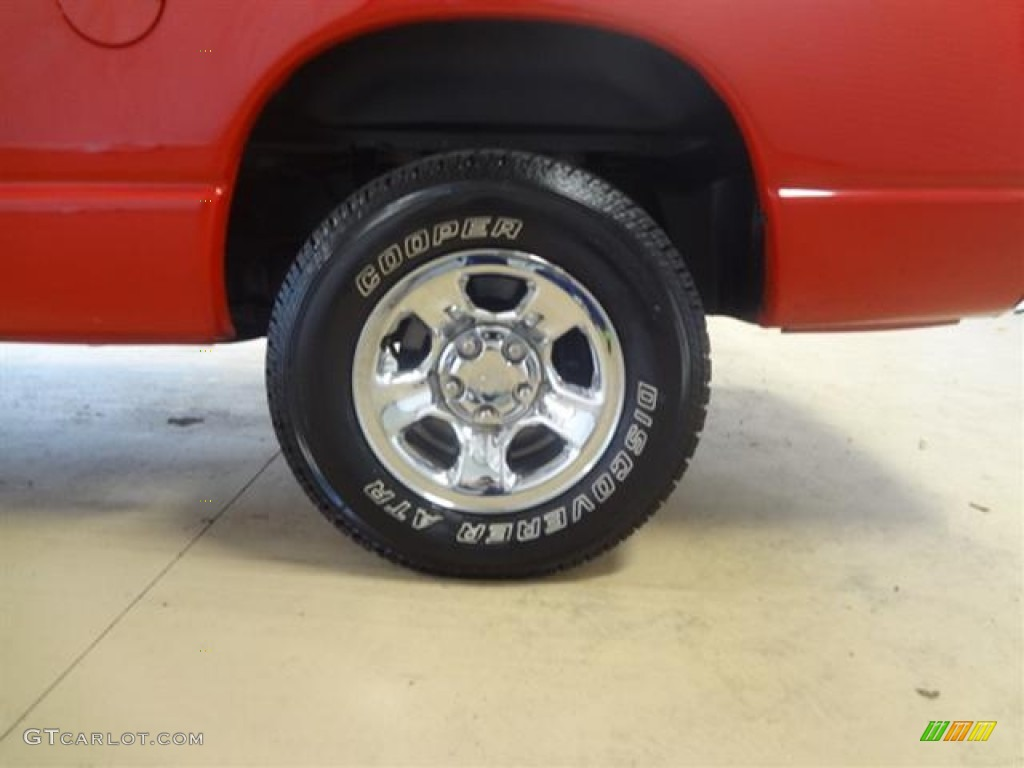 2002 Ram 1500 SLT Quad Cab - Flame Red / Dark Slate Gray photo #7