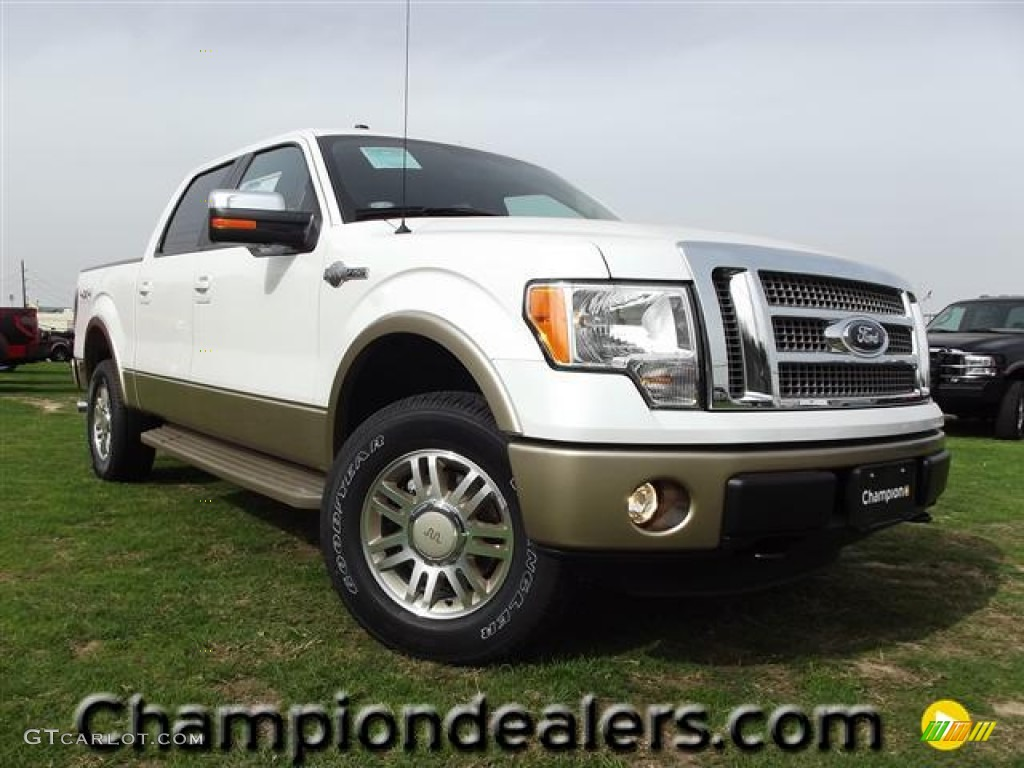 2012 white platinum metallic tri coat ford f150 king ranch supercrew 4x4 60111213 gtcarlot. Black Bedroom Furniture Sets. Home Design Ideas