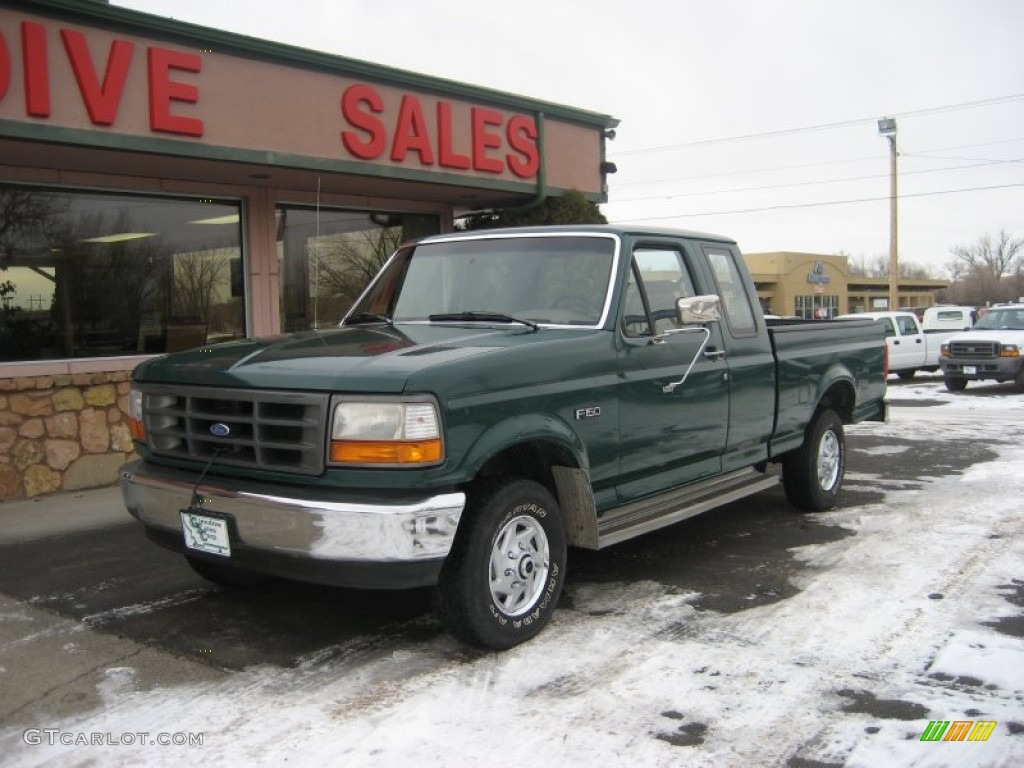 1996 pacific green metallic ford f150 xl extended cab 4x4 60112000 car color. Black Bedroom Furniture Sets. Home Design Ideas