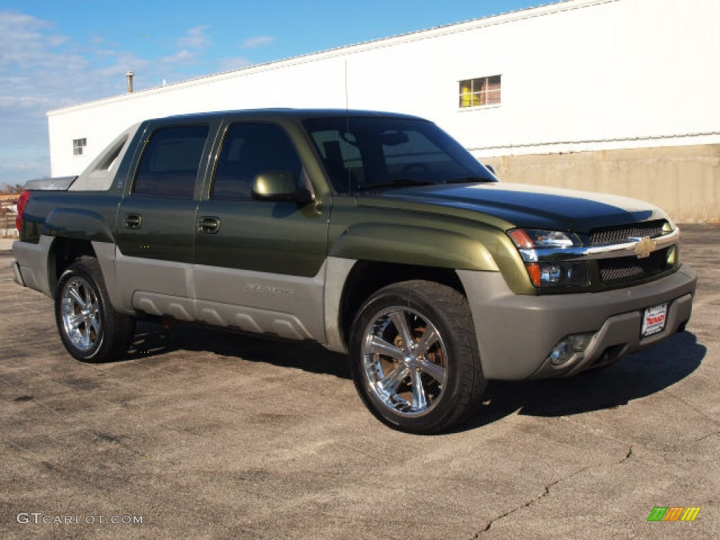 Medium Sage Green Metallic 2002 Chevrolet Avalanche The