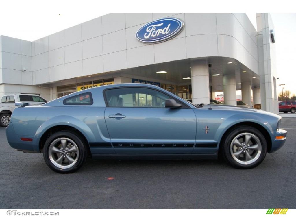 Windveil Blue Metallic 2006 Ford Mustang V6 Premium Coupe Exterior Photo #60150486