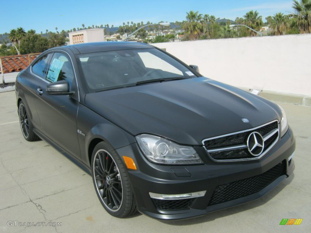 2012 designo magno night black matte mercedes benz c 63 for Matte black mercedes benz