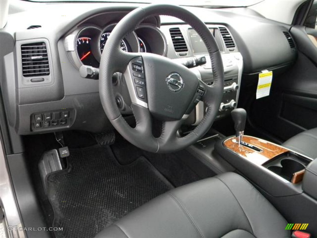 Black Interior 2012 Nissan Murano Le Platinum Edition