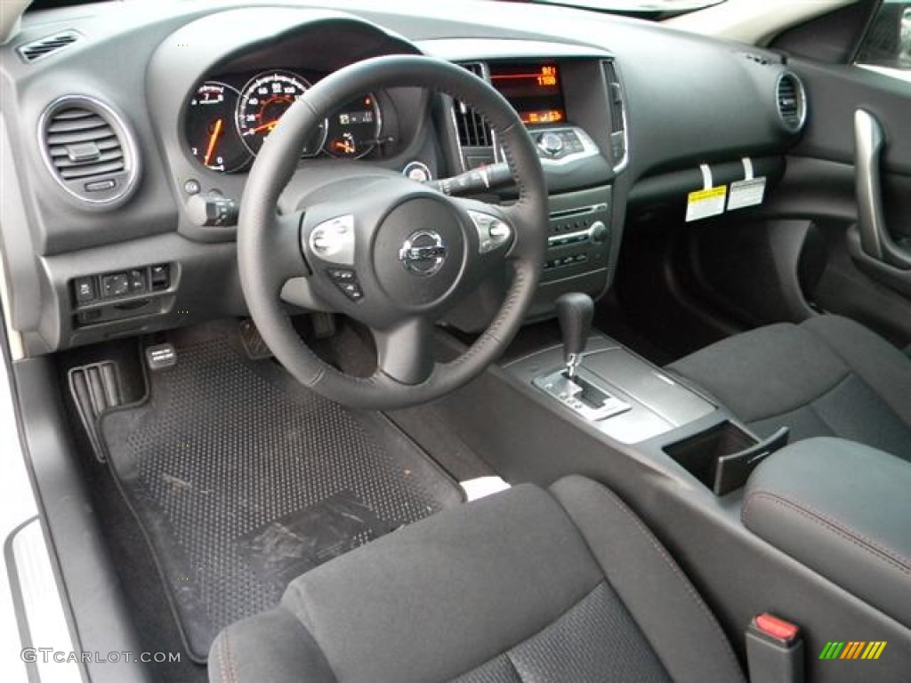 charcoal interior 2012 nissan maxima 3 5 s photo 60153828. Black Bedroom Furniture Sets. Home Design Ideas