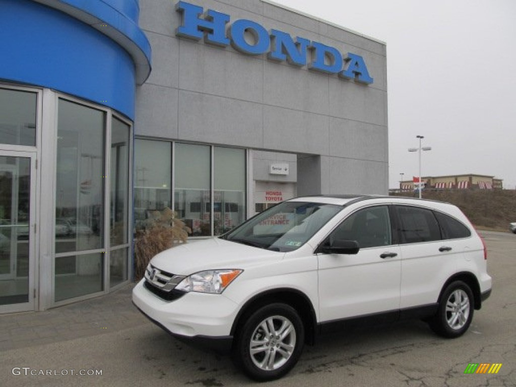 2010 CR-V EX AWD - Taffeta White / Gray photo #1