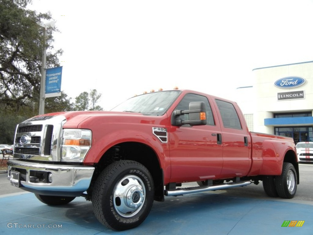 2008 bright red ford f350 super duty lariat crew cab 4x4 dually 60111349 gtcarlot com car