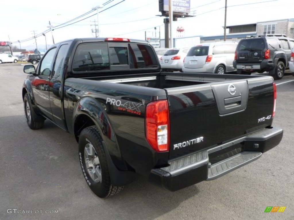 super black 2012 nissan frontier pro 4x king cab 4x4 exterior photo 60165263. Black Bedroom Furniture Sets. Home Design Ideas