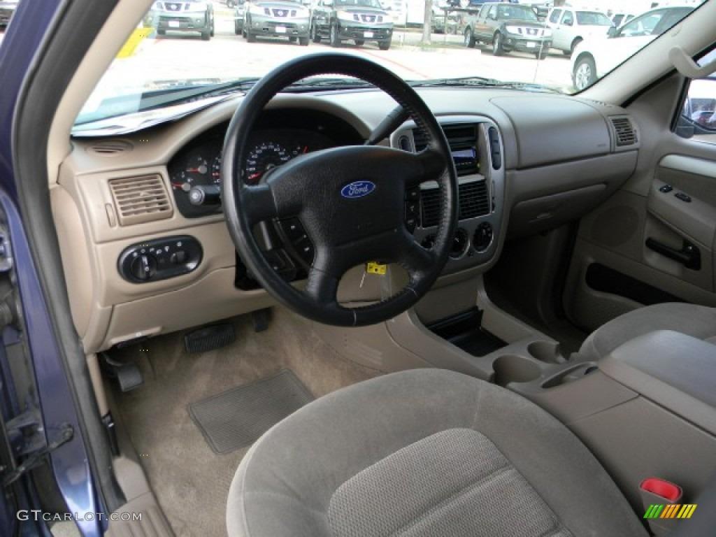 2003 Ford Explorer Xlt Medium Parchment Beige Dashboard Photo 60165408