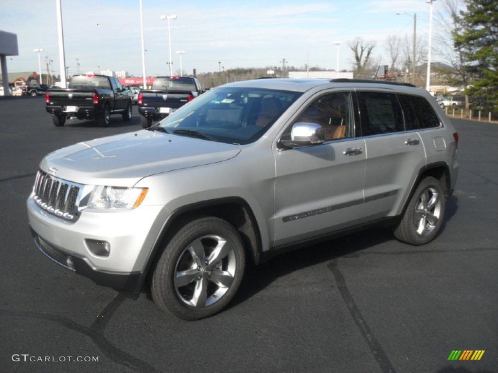 bright silver metallic 2012 jeep grand cherokee overland