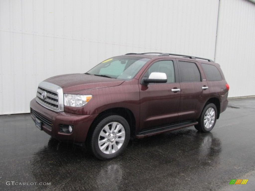 2008 cassis red pearl toyota sequoia platinum 4wd. Black Bedroom Furniture Sets. Home Design Ideas