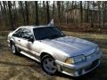 Light Titanium Metallic 1990 Ford Mustang GT Coupe