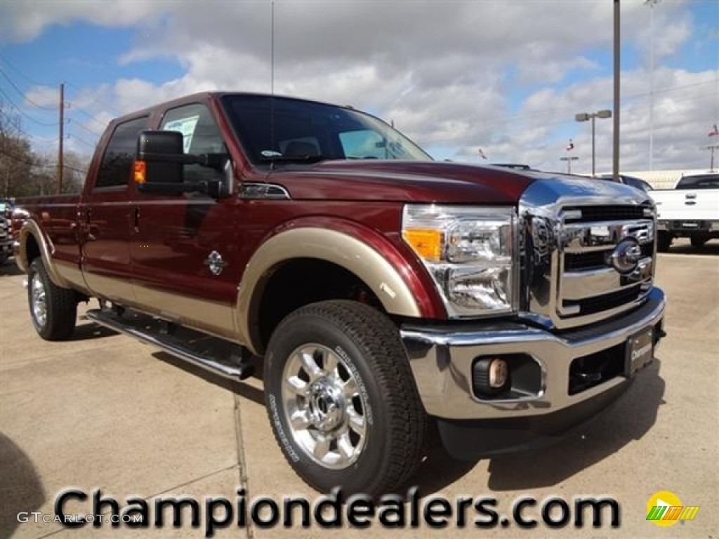 2012 autumn red ford f350 super duty lariat crew cab 4x4 60181373 car color. Black Bedroom Furniture Sets. Home Design Ideas