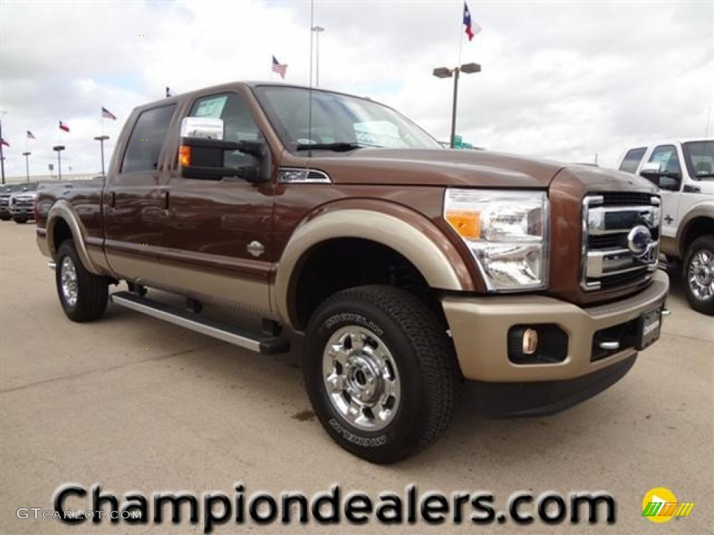 2012 F250 Super Duty King Ranch Crew Cab 4x4 - Golden Bronze Metallic / Chaparral Leather photo #1