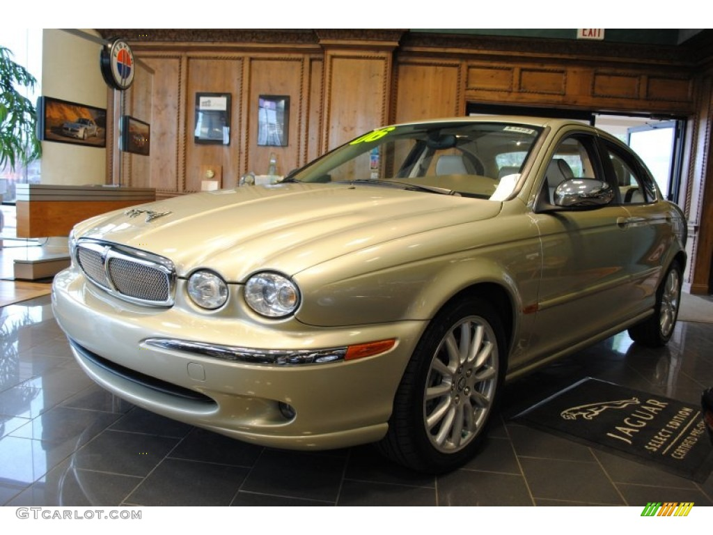 2006 winter gold metallic jaguar x type 3 0 60181365. Black Bedroom Furniture Sets. Home Design Ideas