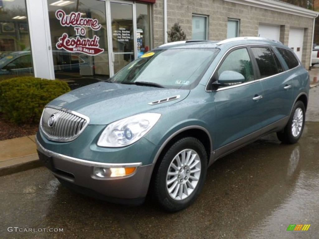 2009 Enclave CXL AWD - Silver Green Metallic / Cocoa/Cashmere photo #1