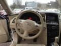 2011 Infiniti FX Wheat Interior Steering Wheel Photo