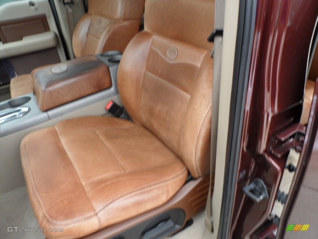 tan casta o leather interior 2008 ford f150 king ranch supercrew photo 60205210. Black Bedroom Furniture Sets. Home Design Ideas