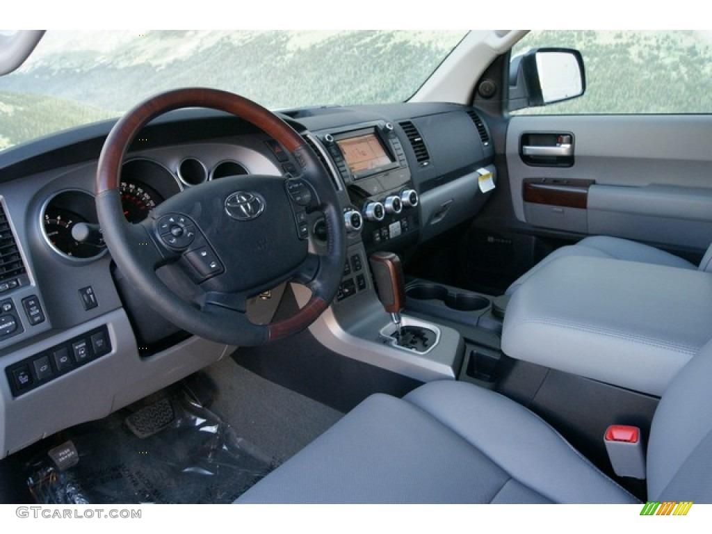 graphite gray interior 2012 toyota sequoia platinum 4wd photo 60207904. Black Bedroom Furniture Sets. Home Design Ideas