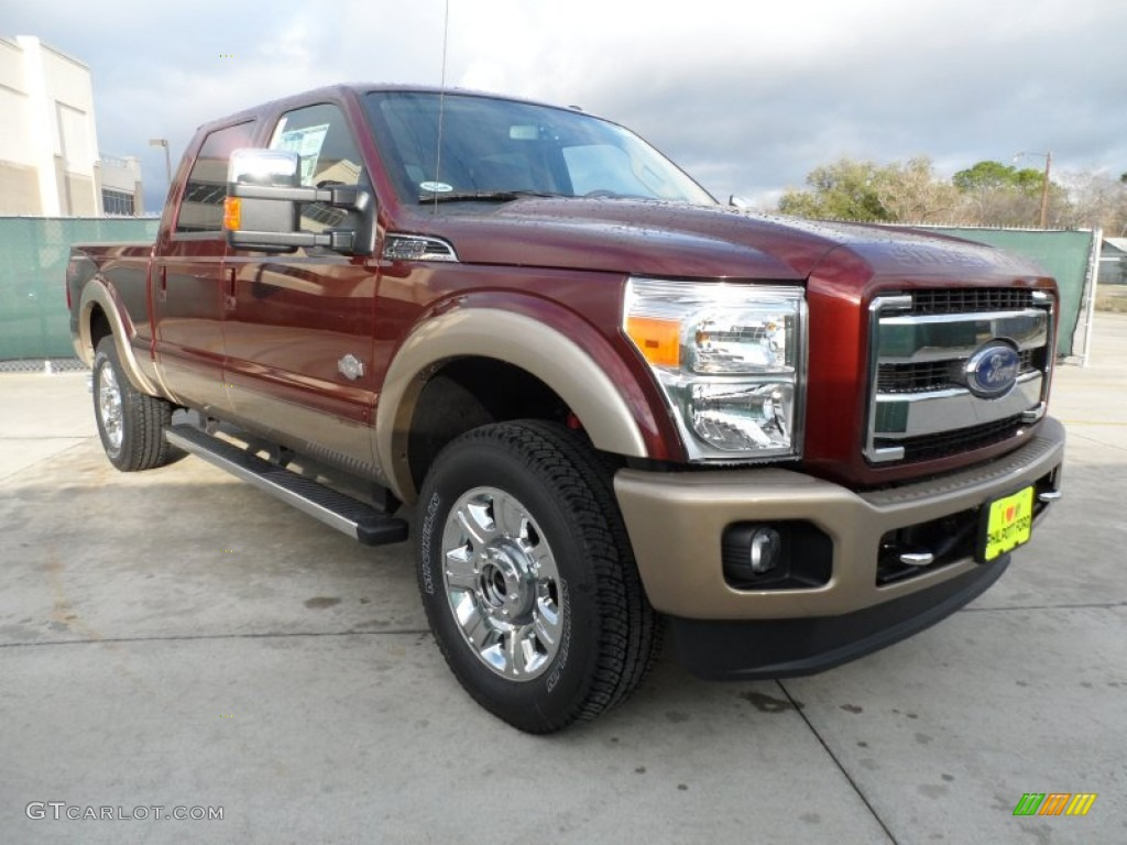 2012 autumn red metallic ford f250 super duty king ranch crew cab 4x4 60181582. Black Bedroom Furniture Sets. Home Design Ideas