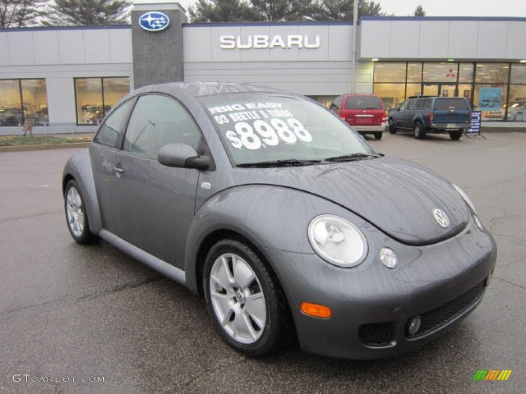 2003 platinum grey metallic volkswagen new beetle turbo s. Black Bedroom Furniture Sets. Home Design Ideas