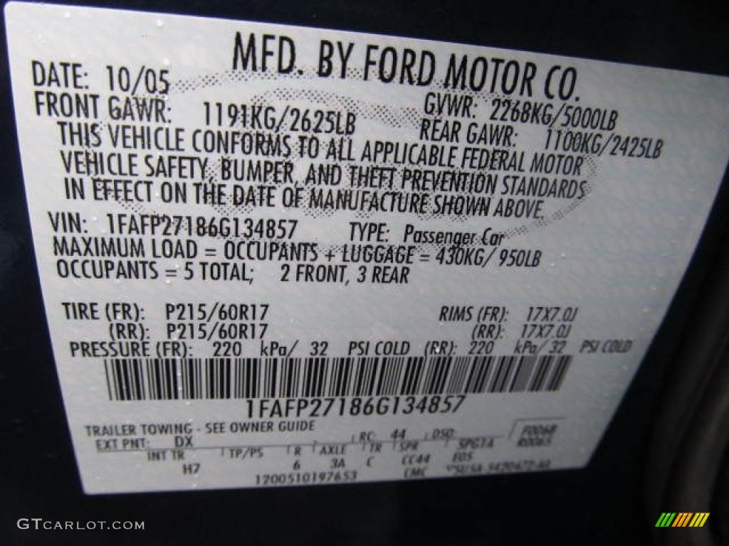 Dv Ford Paint Code