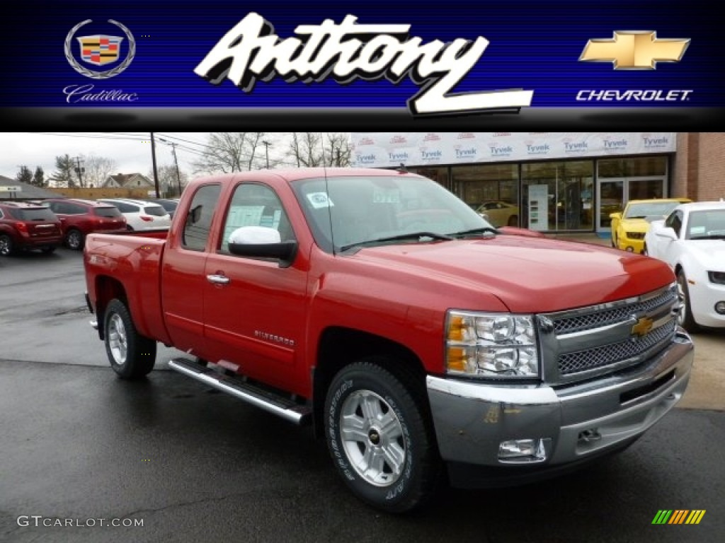 2012 Silverado 1500 LT Extended Cab 4x4 - Victory Red / Ebony photo #1