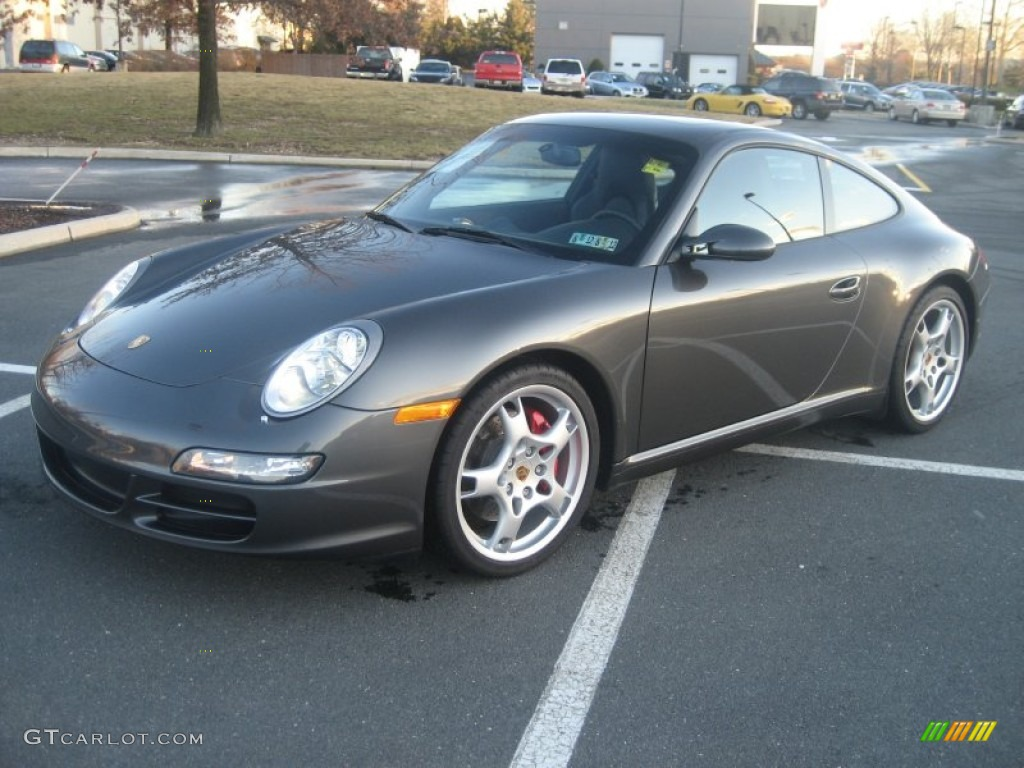 2005 911 Carrera S Coupe - Slate Grey Metallic / Black photo #1