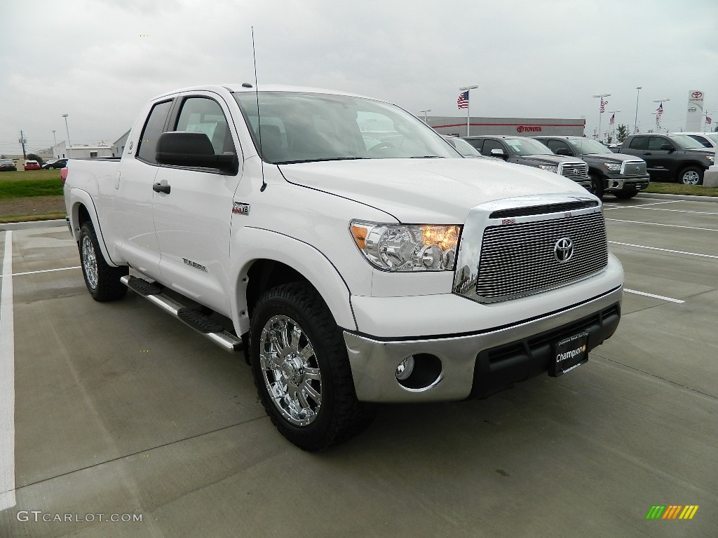 2012 super white toyota tundra texas edition double cab 4x4 60232849 photo 3. Black Bedroom Furniture Sets. Home Design Ideas