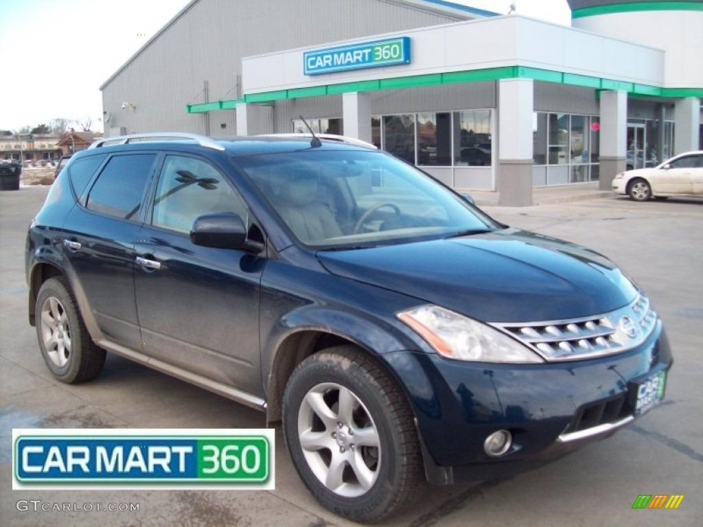 2007 Murano S AWD - Midnight Blue Pearl / Cafe Latte photo #1