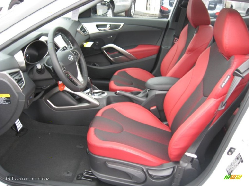 Black Red Interior 2012 Hyundai Veloster Standard Veloster