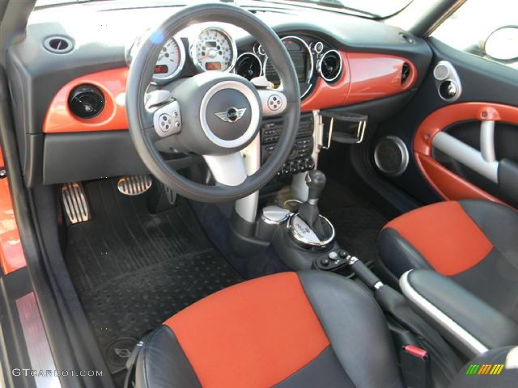Black Orange Interior 2006 Mini Cooper S Convertible Photo 60261656