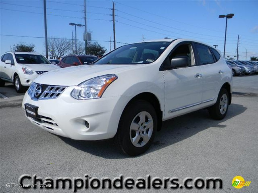 2012 Pearl White Nissan Rogue S 60232719 Gtcarlot Com