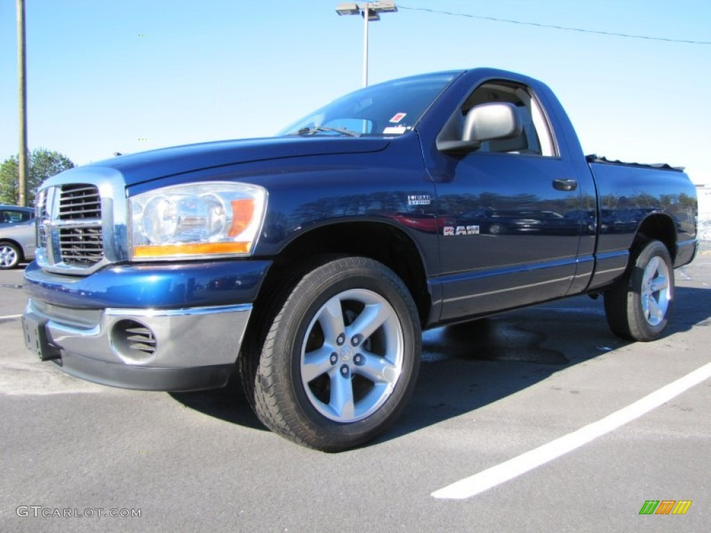2006 Ram 1500 SLT Regular Cab - Patriot Blue Pearl / Medium Slate Gray photo #1