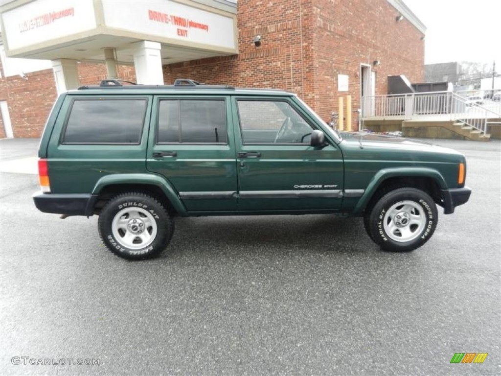 Forest Green Pearlcoat 2001 Jeep Cherokee Sport Exterior Photo 60272235