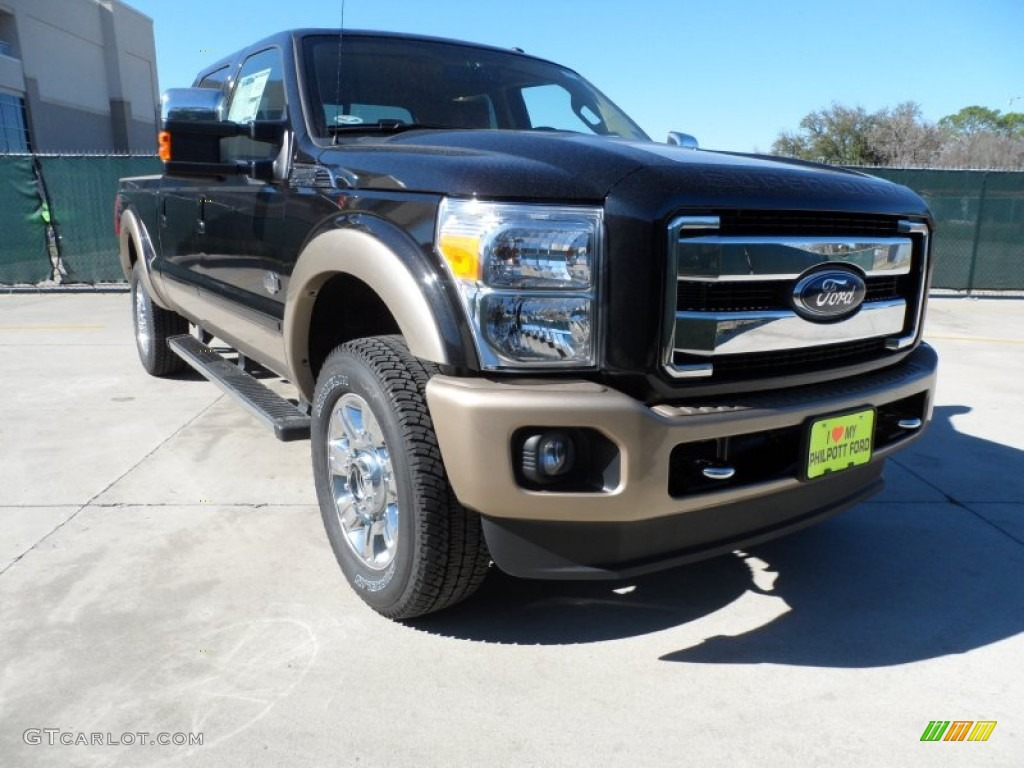 2012 F250 Super Duty King Ranch Crew Cab 4x4 - Tuxedo Black Metallic / Chaparral Leather photo #1