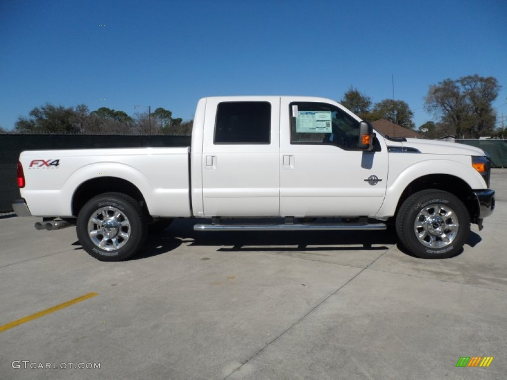 2000 Ford F250 Lariat Supercab Super Duty News >> White Platinum Metallic Tri-Coat 2012 Ford F250 Super Duty Lariat Crew Cab 4x4 Exterior Photo ...