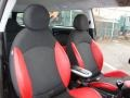 Black/Rooster Red Interior Photo for 2009 Mini Cooper #60276446