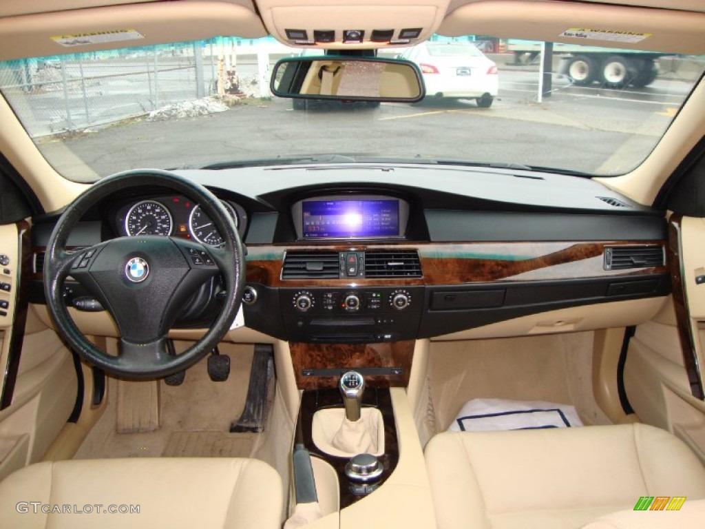 2007 bmw 5 series 530xi sedan beige dashboard photo #60277163