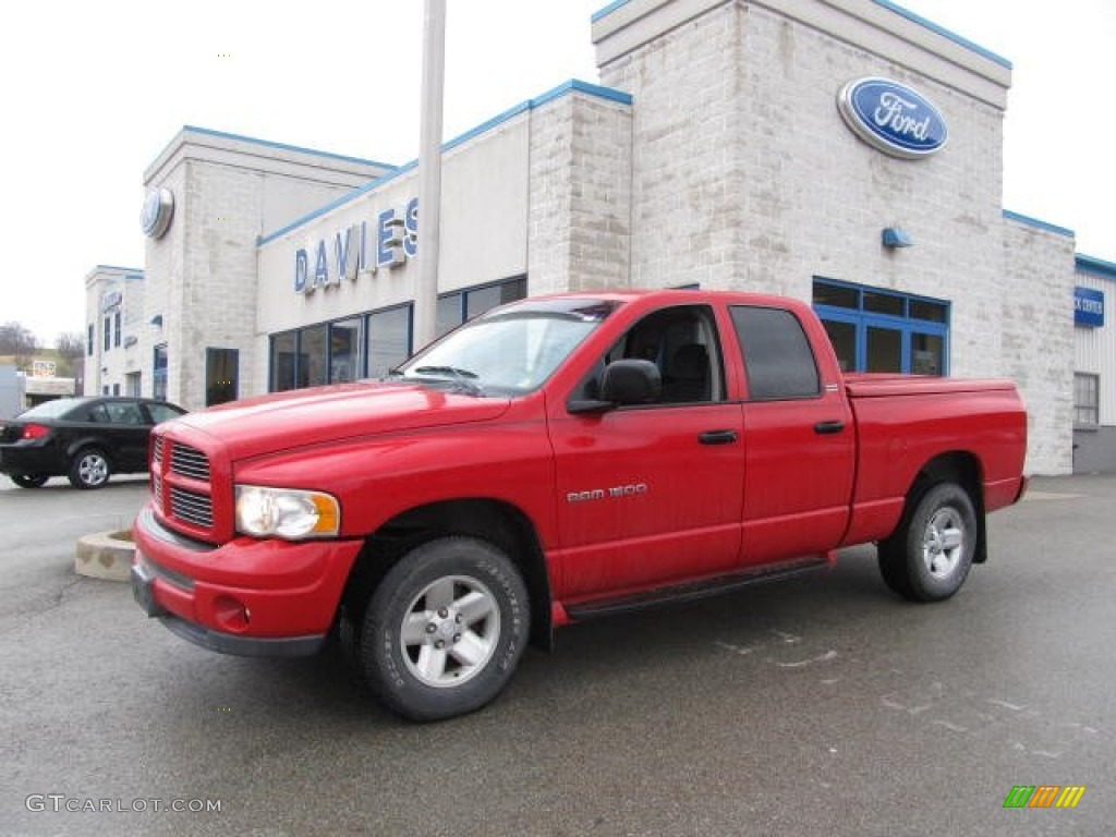 2002 Ram 1500 SLT Quad Cab 4x4 - Flame Red / Dark Slate Gray photo #1