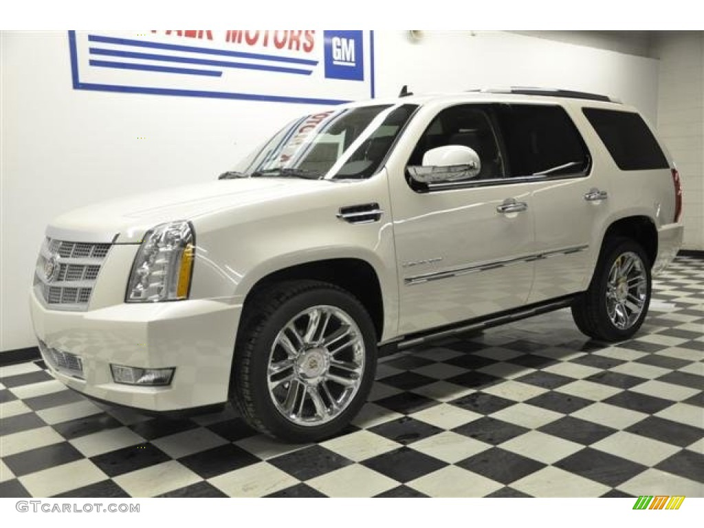 2012 white diamond tricoat cadillac escalade platinum awd. Black Bedroom Furniture Sets. Home Design Ideas