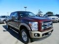 2012 Autumn Red Metallic Ford F250 Super Duty King Ranch Crew Cab 4x4  photo #3
